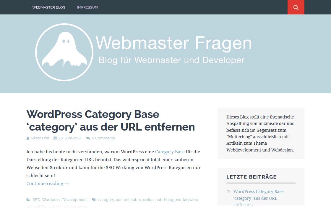 Webmaster Fragen Blog